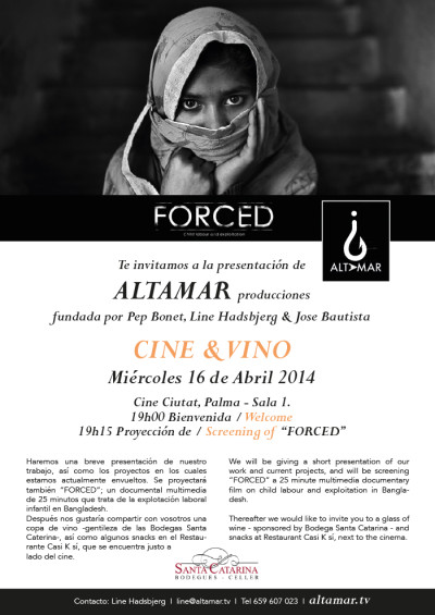 CINE & VINO! Altamar films official presentation in Mallorca